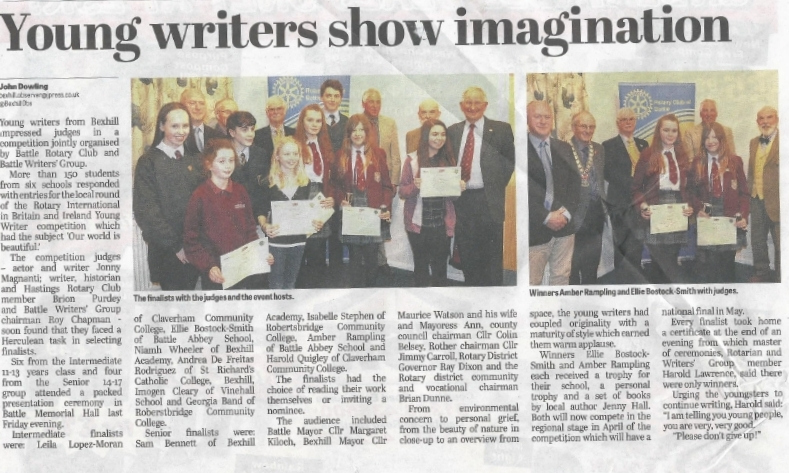 Battle Writers Young Writers Competition